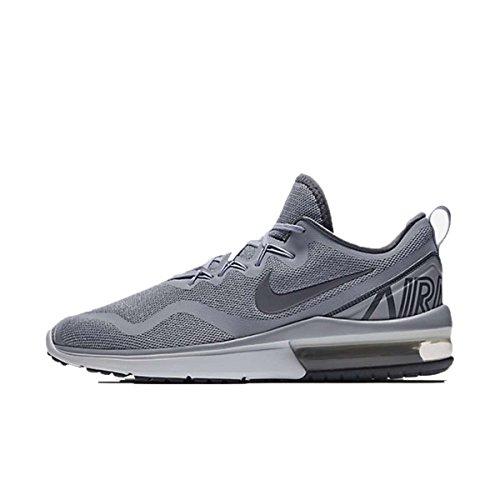 Nike Men's Air Max Fury Running Shoe (Wolf Grey/Dark Grey-stealth, 9.5 M US)
