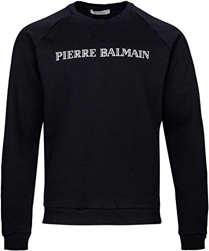 Pierre Balmain Paris Herren Pullover Sweatshirt Logo Sweat-Shirt Men