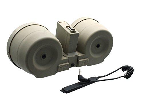 ICS Softair / Airsoft M4 Drum Mag Highcap Magazin, aus Metall -TAN- (3000 BBs) [MC-202]