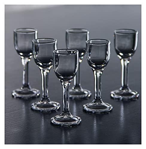 Ersanc Se utilizará un Conjunto de 6,3/0.5 onzas de Copas de Vino de Vidrio sin Plomo para Licor Chino, 10 ml / 15 ml se utilizarán decoración de Suministros de Fiesta (Color : 10ml6pcs)