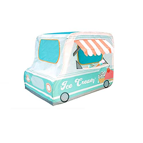 Tents Car for Baby, Children's Play Like an Ice Cream Van, Infant Puzzle Game Playhouse - Portable (Size : 71.12 * 142.24 * 91.44CM)