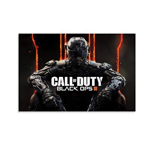 XIAOTT Póster de videojuegos de Call of Duty Black Ops 2 sobre lienzo y arte de pared, impresión moderna, para decoración de dormitorio familiar, 30 x 45 cm