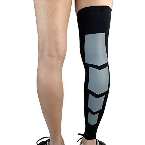 VORCOOL Kompression Knie Leg Sleeve Unterstützung Wadenbandage Kniebandage für Laufen, Radfahren, Wandern, Badminton, Fußball - Größe L