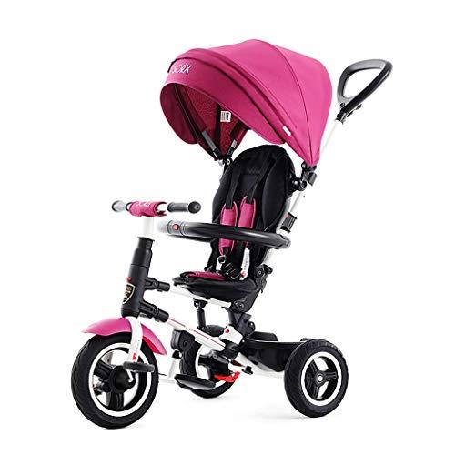xy Triciclos Kids Trike - Bicicleta De Paseo For Triciclo De Bebé 3 En 1 con Manija De Empuje, For Niñas Y Niños Pequeños, 1-5 Años 3 Colores ( Color : Pink )
