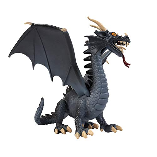 FLORMOON Juego de Dinosaurios - Realista Dragon Volador Dinosaur- Figuras de Dinosaurio de plástico Azul - Decoración de Pastel de cumpleaños Juguete Escolar para niños