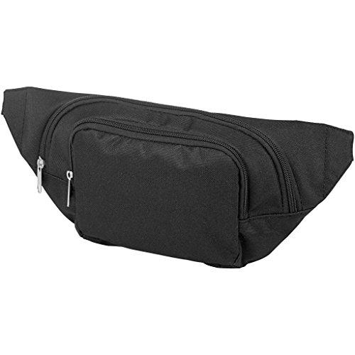notrash2003 Bauchtasche Hüfttasche Gürteltasche längenverstellbar Umhängetasche Wimmerl für Sport und Urlaub in schwarz