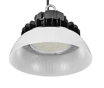 GRANDLUMEN 150W LED High Bay UFO Light, ETL Certified, 120-277V, 1-10V Dimmable, 5000K Daylight White, LED Warehouse Lighting with PC Reflector