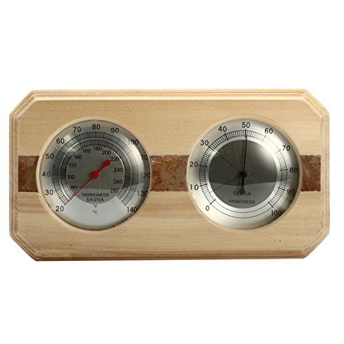 Tutoy Holzsauna Hygrothermograph Thermometer Hygrometer Sauna Zimmer Zubehör
