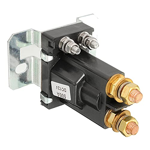 QIANSDZSW Relé El relé de Aislamiento de la batería Dual Comienza a Apagar 4 Pin 500A 12V para el Interruptor de alimentación del automóvil