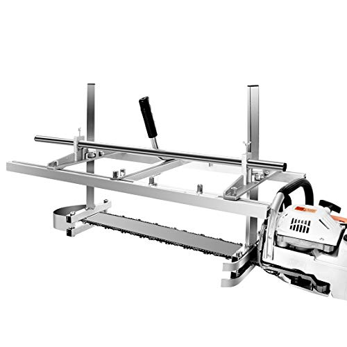 """Nejoney 36-inch Portable Chainsaw Mill, Aluminum Steel Planking Milling Bar for Builders and Woodworkers (14""""-36"""")"""