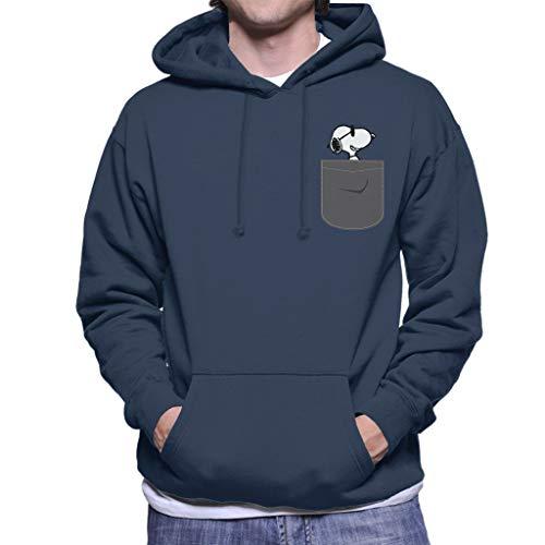 Cloud City 7 Snoopy Pocket Print Peanuts Men's Hooded Sweatshirt