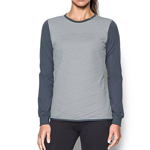 Under Armour ColdGear Reactor T-shirt hybride à manches longues avec fermeture éclair 1/2 pour femme Gris Overcast (941)/Gris Overcast Gris, XS