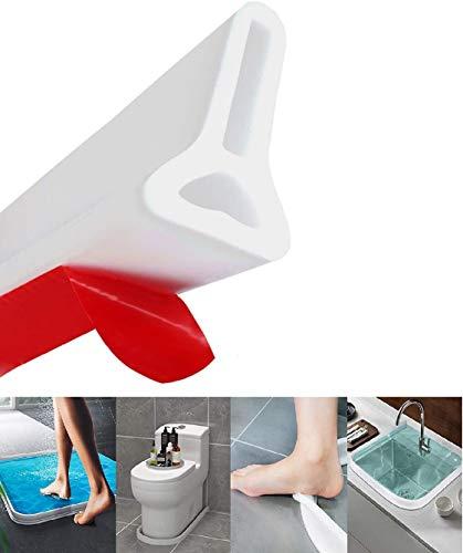 Duschdichtung Duschkabinen Dichtung ?Silikon-Dichtung ?flexibel, für Feuchtraum, Dusche, Badezimmer Und Küche Silikon Wassersperre (150 cm,Weiß)