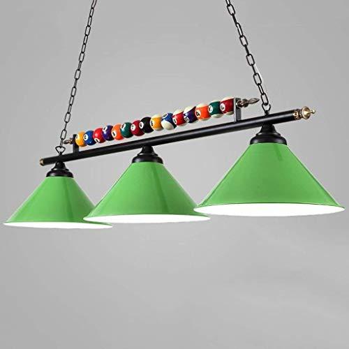 Drie koppen zwart acht snooker tafel kroonluchter, creatieve persoonlijkheid LED smeedijzer hanglamp (vier kleuren om uit te kiezen) A+ groen