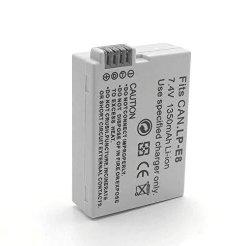 Grehod Batería decodificada Recargable de Iones de Litio LP-E8 de 7,4 V 1350 mAh para cámara Digital Canon EOS EOS Kiss X4 X5 X6i X7i T2i T3i 1pc