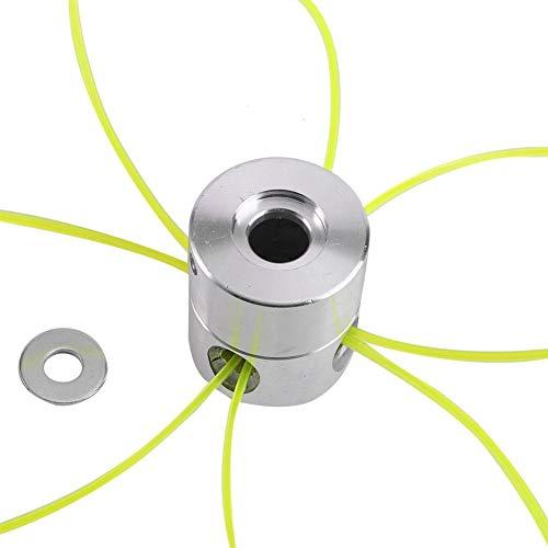 Samfox Trimmerkopf Universal Aluminium Strimmer Kopf Trimmerköpfe Saitensatz für Benzin Grass Kreissäge Zubehör