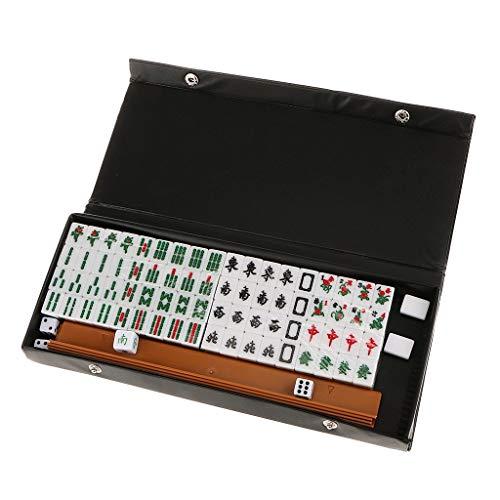 Tubayia Tragbare Mini Mahjong Set Brettspiel Spaß Spielzeug für Reise, Picknick, Party