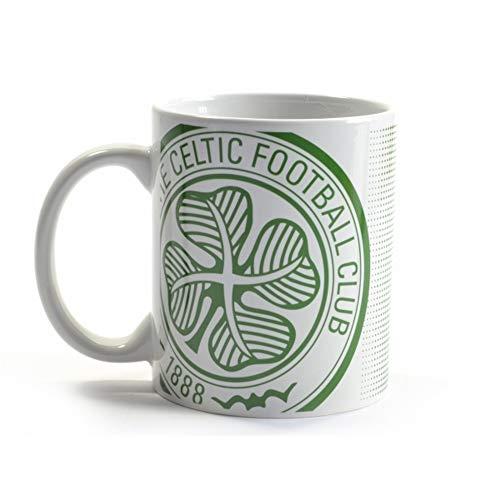 Celtic FC Halftone 11oz Boxed Mug (One Size) (White/Green)