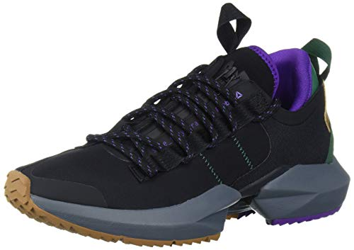 Reebok unisex adult Sole Fury Trail Running Shoe, Black/Clover Green/Purple, 12 US