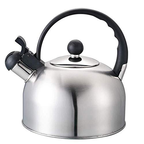Théière XINYALAMP Bouilloire Stovetop ménage, Bouilloire Plaque à Induction, Bouilloire en Acier Inoxydable 2L Camping Ménage Cuisinière Whistling gaz Eau Teapot Outils de Cuisine Cuisine