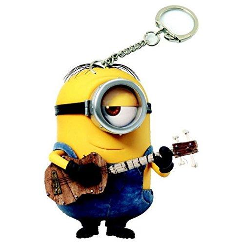 Minions Schlüsselanhänger Keychain Stuart mit Gitarre