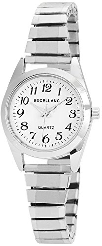 Excellanc Damen-Armbanduhr Zugband Metall Analog Quarz 1700022-002