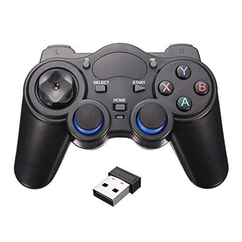 Manette de jeu Bluetooth sans fil pour téléphone intelligent avec poignée sans fil pour téléphone Android/PC ordinateur/PS3/TV Box Joystick 2.4G Joypad Game Remote Pad (couleur : noir avec USB otg)