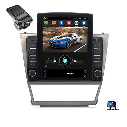Android 10Car Radio,Para Toyota Camry 6 XV 40 50 2006-2011 Soporte Reproductor De Video Multimedia Estéreo Bluetooth USB WIFI Navegación GPS Autoradio/Control Del Volante/Dash Ca(Color:WIFI 1G+16G)