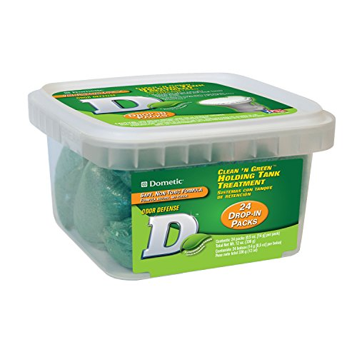 Dometic D1114001 D Line Clean 'N Green Holding Tank Treatment - Pack of 24 Drop-Ins