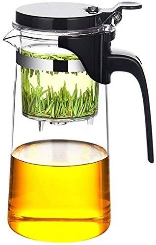 Tetera silbante Tetera de Cristal para té de Hoja Suelta Tetera de té de té con Tetera con Tetera con colador de Acero Inoxidable para té de Hoja Suelto WHLONG