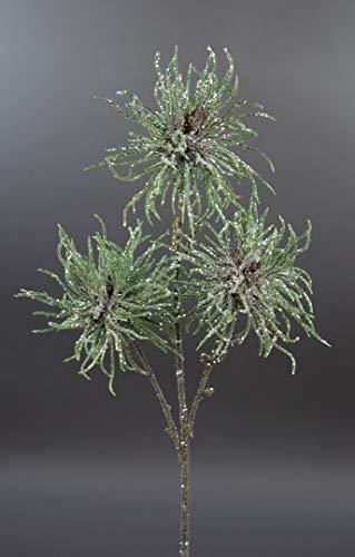 Seidenblumen Roß Hamameliszweig/Zaubernusszweig 46cm geeist DP Kunstzweig künstlicher Zweig künstliche Zaubernuss
