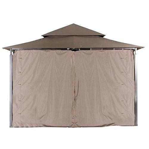 ABCCANOPY Universal Gazebo Replacement Privacy Wall for Most 10' x 10' Gazebo, 1 Panel Sidewall ONLY (Brown)