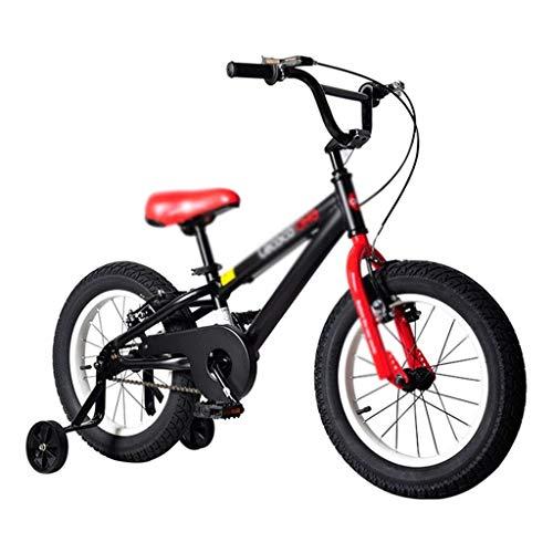 ZMDZA Bicicletas for niños, Bicicletas niños for niños y niñas, 3-8 años Niño de Bicicletas de montaña de aleación de magnesio City Girl-o-Terreno de 16 Pulgadas Bicicleta bicis