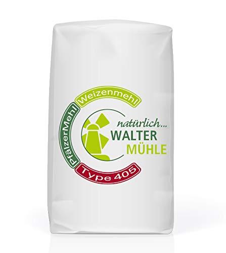 Weizenmehl unbehandelt| Type 405 | Walter Mühle | 1kg (10 Pack) | Premium Bäckerqualität | Natur Pur
