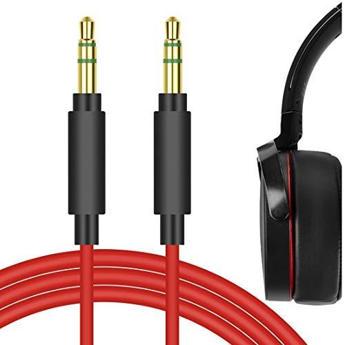 Geekria Qucikfit PLUS pour Sony MDR-1000 X, MDR-100AAP, MDR-100ABN, MDR-XB950BT, XB650BT, XB750BT, MDR-1A - Anti-nœuds - Câble audio de remplacement(3.5mm, 1.5m)