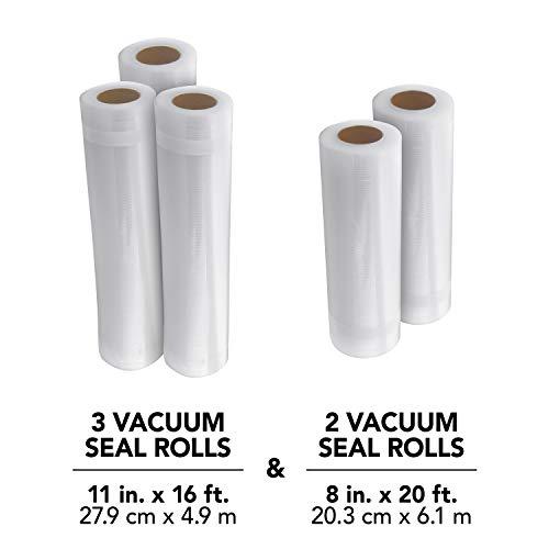 FoodSaver 8 and 11 Vacuum Seal Rolls Multipack | Make Custom-Sized BPA-Free Vacuum Sealer Bags