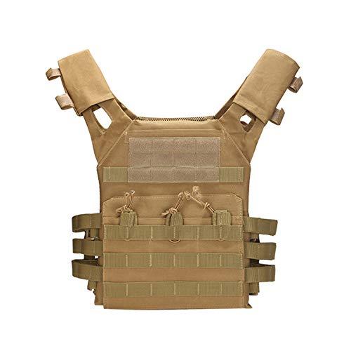 VKTY Chaleco táctico deportivo, chaleco de asalto modular chaleco de aplicación de la ley, chaleco ajustable y ligero transpirable para entrenamiento de combate para niños