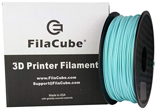 PLA+ Mint Blue 1.75mm 3D Printer Filament - 1kg FilaCube HT-PLA+ High Temperature Professional PLA Plus - Tough Strong and Tolerate high Temp After Heat-Treat - 3D Printing PLA Pro [Made in USA]