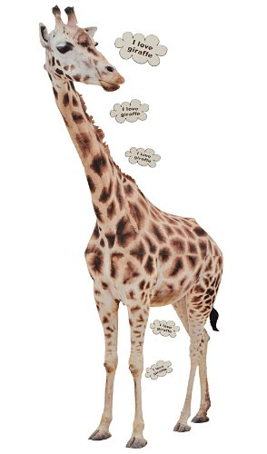 alles-meine.de GmbH XXL Wandtattoo / Sticker - 1,3 m Giraffe Tier Afrika Savanne Tiere Giraffen Zootiere - Wandsticker Aufkleber