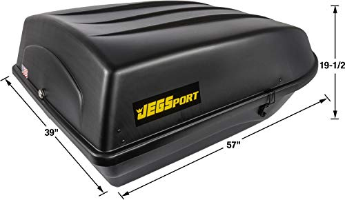 JEGS 90098 Rooftop Cargo Carrier | 18 cu. ft | Waterproof | Made in USA