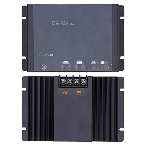 Controlador de carga, controlador MPPT de enfoque automático a prueba de agua, 4 mm / 0.2 pulgadas Práctico duradero para yates RV