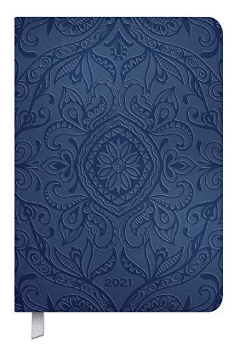 Timer Soft Touch 18 Monate dunkelblau 2020/2021: Terminplaner A5 in Lederoptik. A5 Terminkalender I Kalendarium von Okt. 2020-März 2022, Notizen und Lesezeichenband