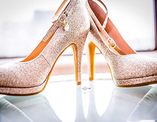 Kits de pintura de diamante 5D DIY,Zapato de tacón alto Fashion Lady con di, diamantes de imitación de cristal redondo de taladro completo para decoración de la pared del hogar 12'X16'