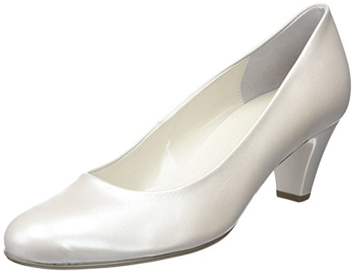 Gabor Vesta 2, Damen Geschlossene Pumps , Beige (Perlatokid -Off-White+Absatz) - Größe: 38 EU (5 UK)