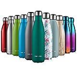 CMXING Botella De Agua 350ML/500ML/750ML de Doble Pared con Aislamiento de Botella de Agua de Acero Inoxidable para Mantener Sus Bebidas Caliente y Fría