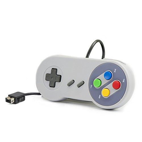 QUMOX Consolle di Controllo cablata per Super Nintendo Snes Classic Mini Edition 2017