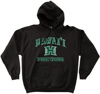 NCAA Hawaii Rainbow Warriors 50/50 Blended 8-Ounce Vintage Mascot Hooded Sweatshirt