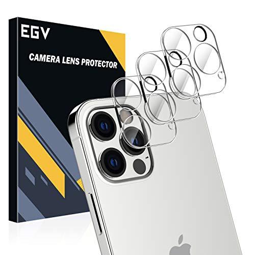 EGV [3 Pack Lente de cámara para iPhone 12 Pro MAX (6.7') Protector Cámara, [Protección Integral] [No afecta el Uso de la cámara] Cristal Vidrio Templado para iPhone 12 Pro MAX (6.7')