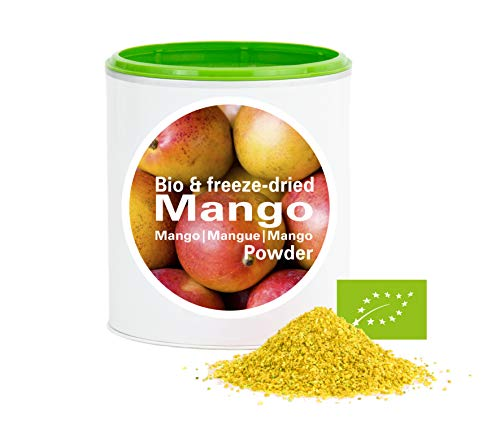 Mangues en poudre - Lyophilisées|biologique|végan|crue|pure fruits|sans additives|riches en vitamins|Good Nutritions 120g