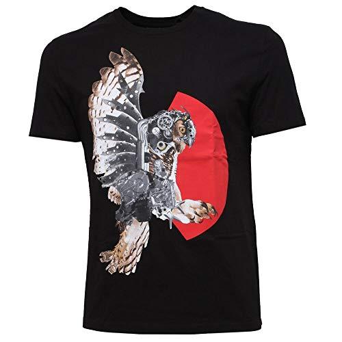 Wang Gang 6115y t-Shirt uomo Neil Barrett Slim fit Maglia Black